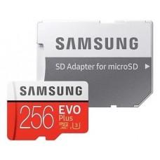 Карта памяти microSDXC 256 GB Samsung EVO Plus UHS-I + SD адаптер