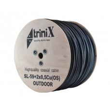 Кабель коаксиальный c питанием внутренний Trinix SL-59+2*0.5 OS структура