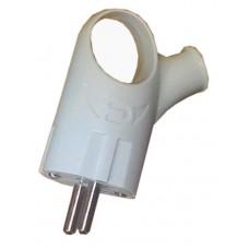 Вилка угловая с/з с ручкой 220V Евро EH-2225